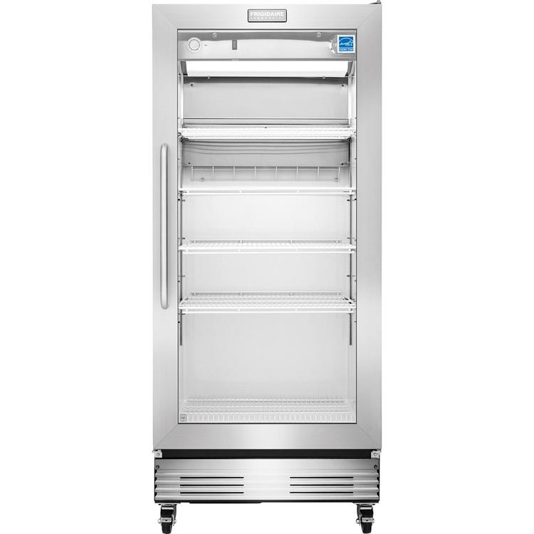 Commercial 17.9 Cu. Ft. Commercial Refrigerator - Stainless Steel with Glass Door