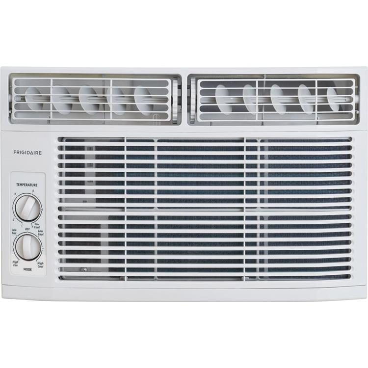Frigidaire 6,000 BTU 115V Window-Mounted Mini-Compact Air Conditioner with Mechanical Controls, White