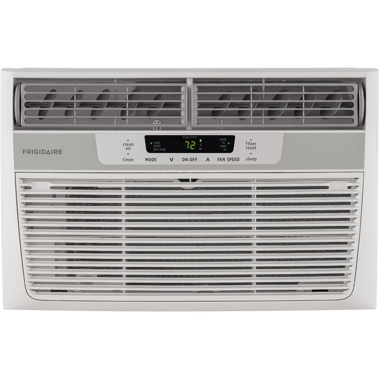 6,000 BTU 115V Window-Mounted Mini-Compact Air Conditioner with Digital Controls and Remote Control, White