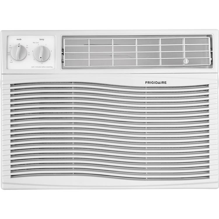 Frigidaire 12,000 BTU 115V Window-Mounted Compact Air Conditioner with Mechanical Controls, White