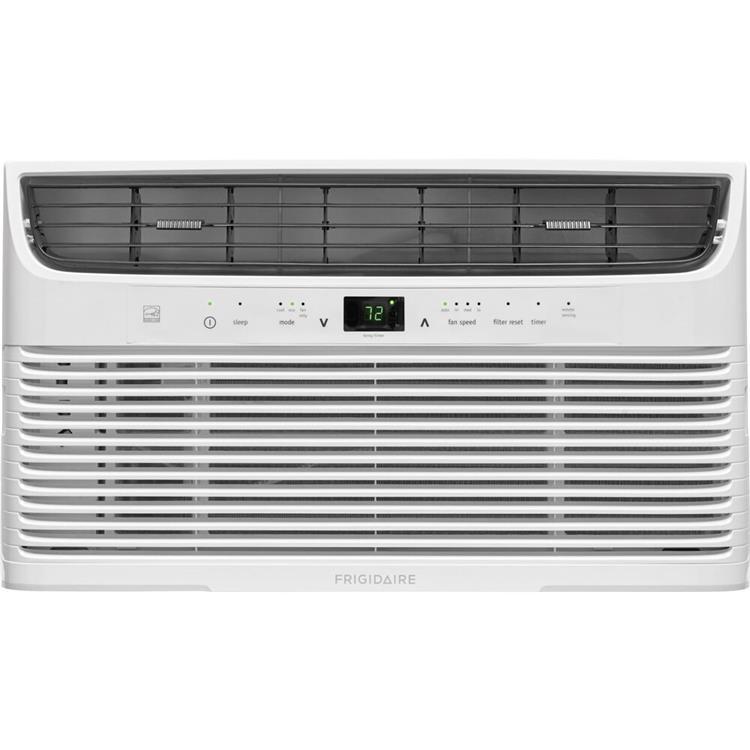 Frigidaire 8,000 BTU 115V Window-Mounted Mini-Compact Air Conditioner with Temperature-Sensing Remote Control, White