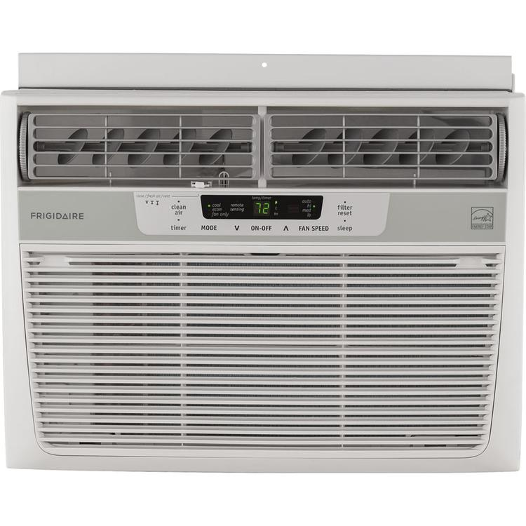 Frigidaire FFRE1033S1 10,000 BTU 115V Window-Mounted Compact Air Conditioner with Temperature Sensing Remote Control, White