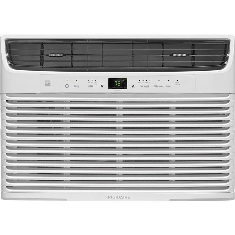 Frigidaire 10,000 BTU 115V Window-Mounted Compact Air Conditioner with Temperature Sensing Remote Control, White
