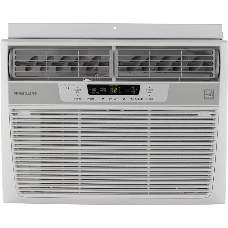 Energy Star 12000 BTU 115V Window-Mounted Compact Air Conditioner With Temperature Sensing Remote Control