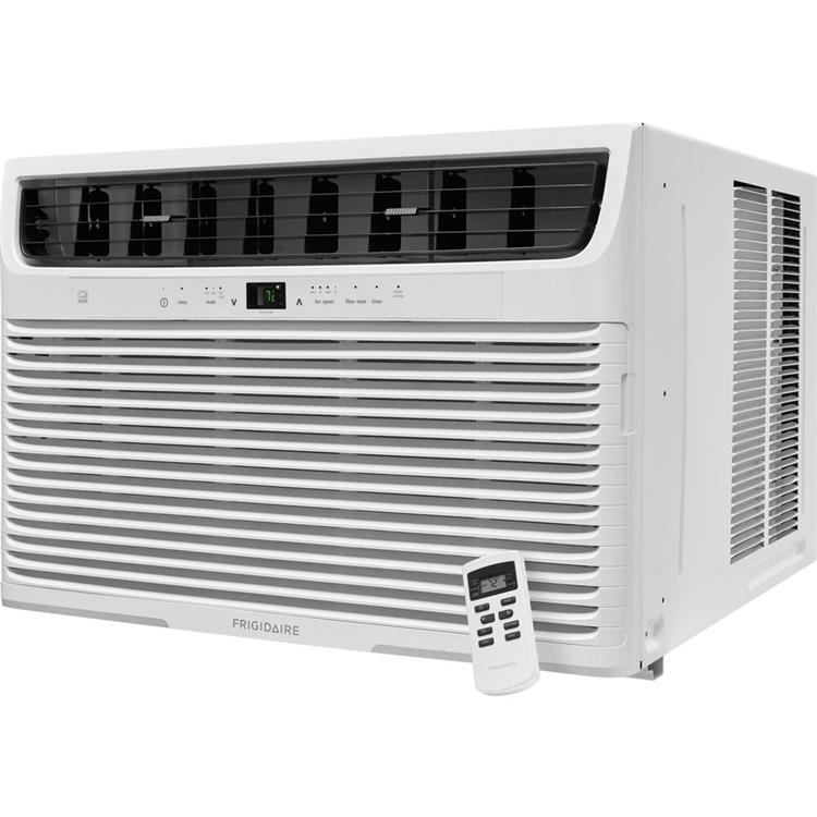 Frigidaire 22,000 BTU 230V Window-Mounted Heavy-Duty Air Conditioner with Temperature Sensing Remote Control