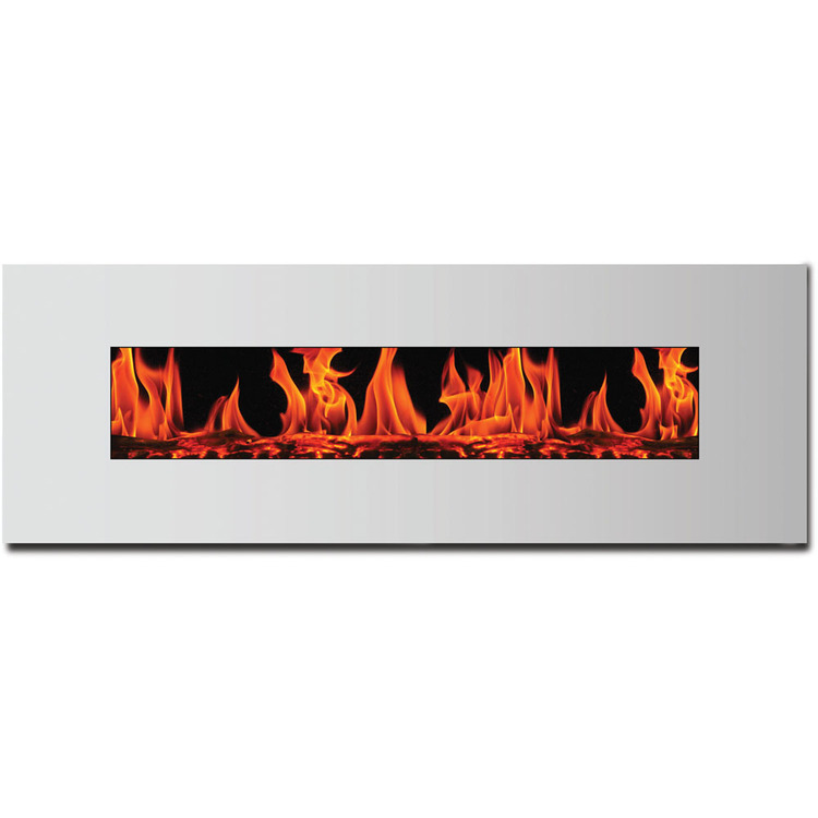 Frigidaire MWSF-10307 Madrid Wide Screen Wall Hanging Electric Fireplace in White