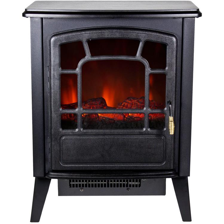 Bern Retro-Style Floor Standing Electric Fireplace