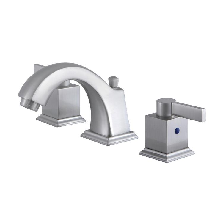 Fauceture FSC4688NQL 8-In Widespread Lavatory Faucet with Pop-Up, Brushed Nickel