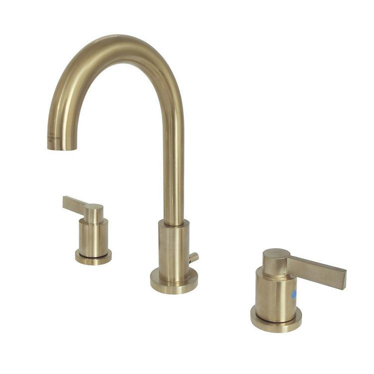 Fauceture FSC8923NDL 8-Inch Widespread Lavatory Faucet, Satin Brass