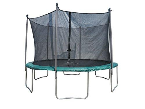 Furinno 12 FT Trampoline with 6 Legs and 6 Poles Enclosure