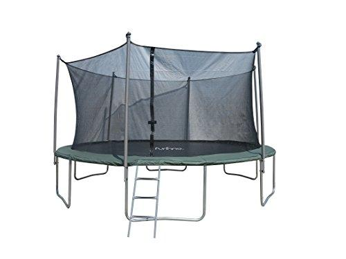 Furinno 15 FT Trampoline with 6 Leg 6 Poles Enclosures and Ladder