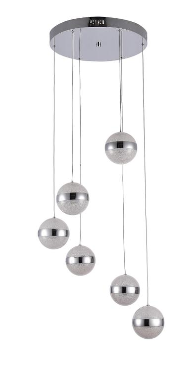 Bethel An Led Chandelier With Clear Beaded Crystal Hanging Pendant Balls & Chrome Hardware