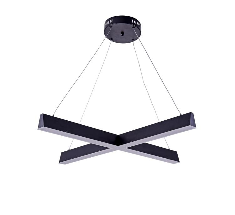 Bethel Matte Black Frame Cross Led Ceiling Fixture With Frosted Acrylic Diffuser