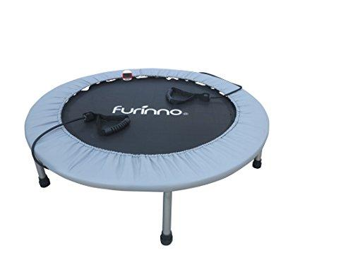 Furinno 38 Inch Trampoline with Monitor and Resistance Tube