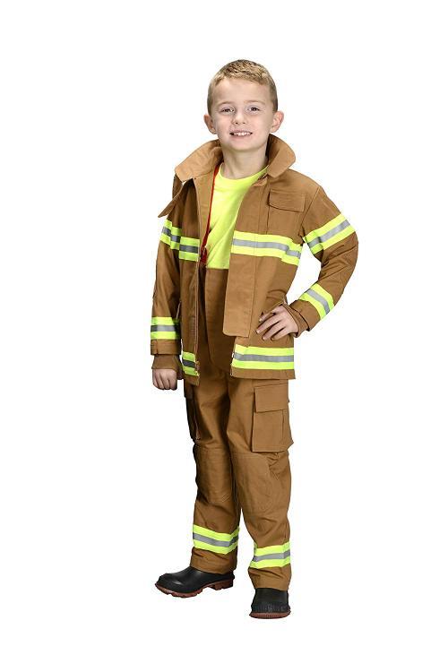 Jr. Fire Fighter Suit, size 6/8 (Tan)