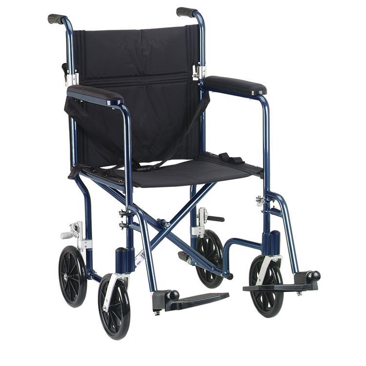 Drive Medical Flyweight Lightweight Folding Transport Wheelchair [Item # ]