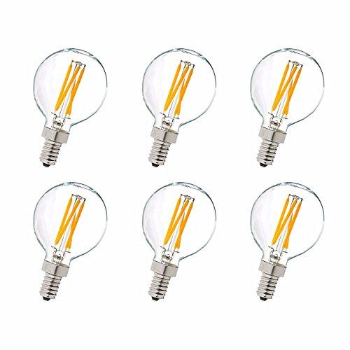 Elegant Furniture LED G14 light bulb, 2700K, 360°, CRI80, ETL, 3.5W, 40W EQUIVALENT, 15000HRS, LM300, DIMMABLE, 2 YEARS WARRANTY, INPUT VOLTAGE 120V 6 PACK