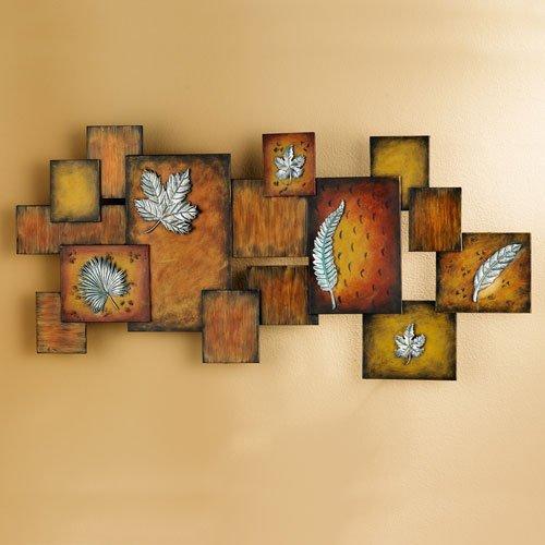 Southern Enterprises Leaves / Abstract Wall Art Panel