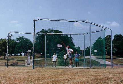Gill Athletics Gill Pro Down Discus Cage w/Sleeves