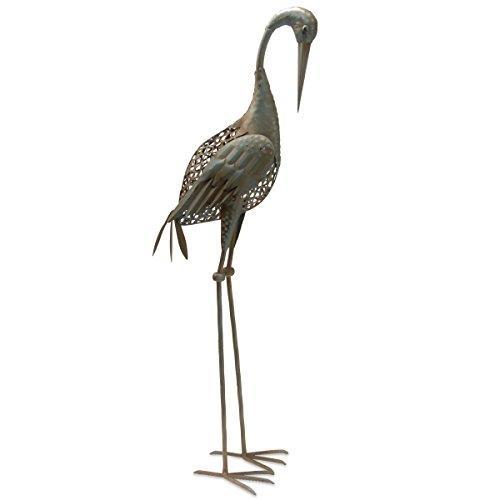 National Tree 35 Inch Garden Accents Antique Green Crane