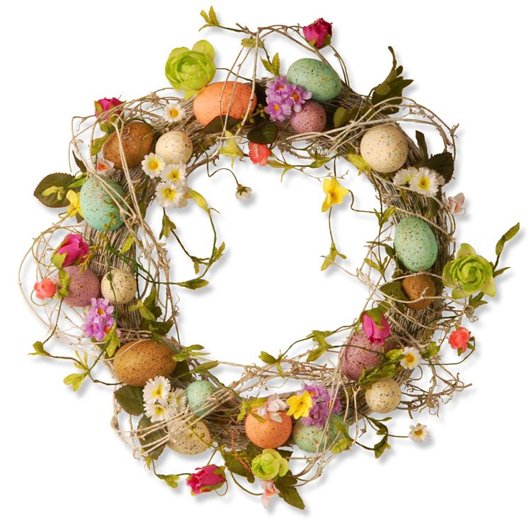 National Tree 18 inch  Garden Accents Easter Egg Wreath