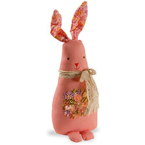 Garden Accents Fabric Pink Rabbit