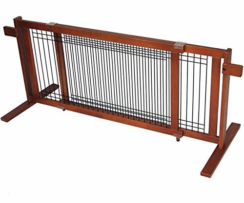 Crown Pet Freestanding Wood/Wire Pet Gate, Rubberwood 21