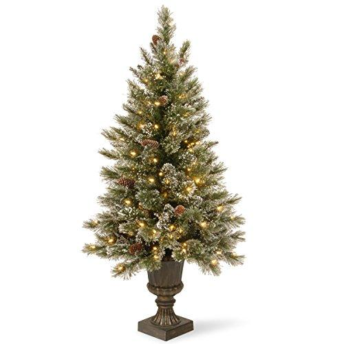National Tree Glittery Bristle Entrance Tree with Clear Lights
