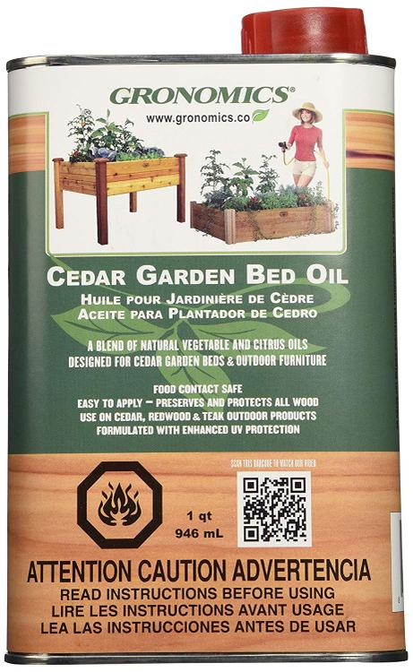 Gronomics Cedar Garden Bed Oil [Item # GBO-1Q]