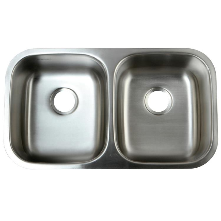 Gourmetier GKUD32199 Undermount Double Bowl Kitchen Sink, Brushed