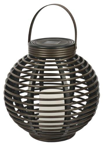 Solar PE Rattan Basket with Candle
