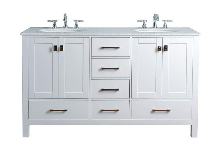 Stufurhome Malibu Double Sink Bathroom Vanity