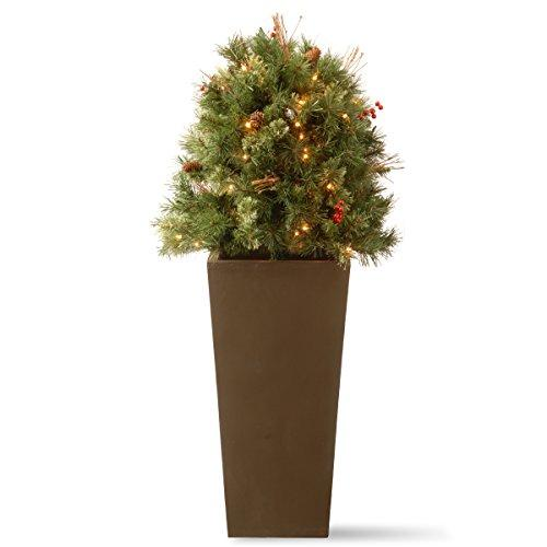 National Tree Glistening Pine Porch Bush with Clear Lights