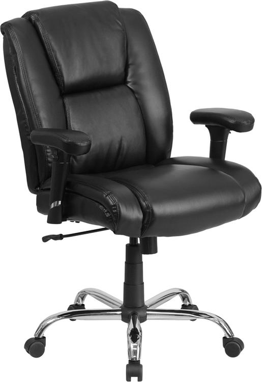 Hercules Series Big & Tall 400 Lb. Rated Leather Swivel Task Chair
