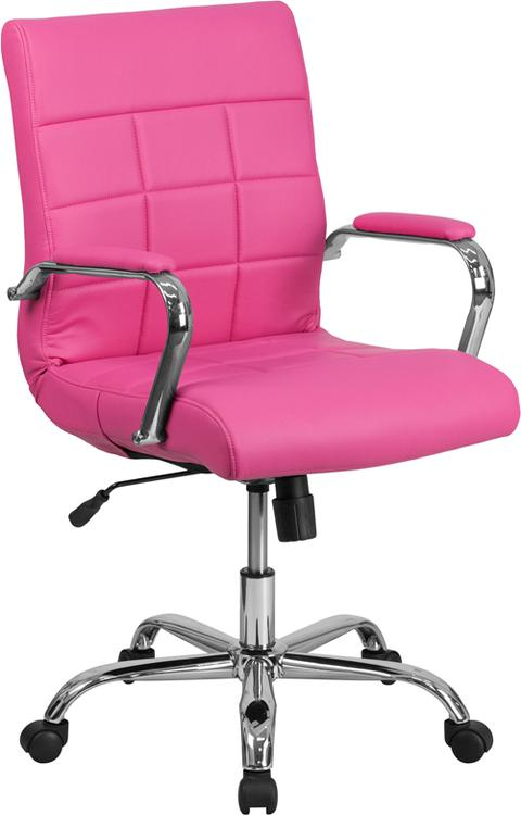 Flash Furniture Mid-Back Vinyl Executive Swivel Chair With Base And Arms