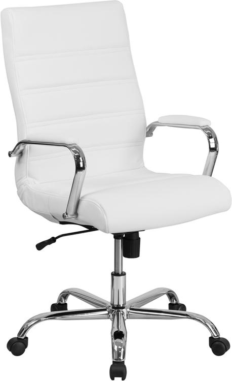 High Back Leather Executive Swivel Chair With Base And Arms