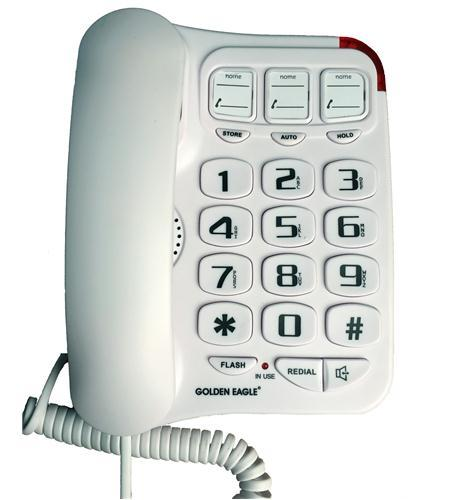 Big Button Phone with Speakerphone White