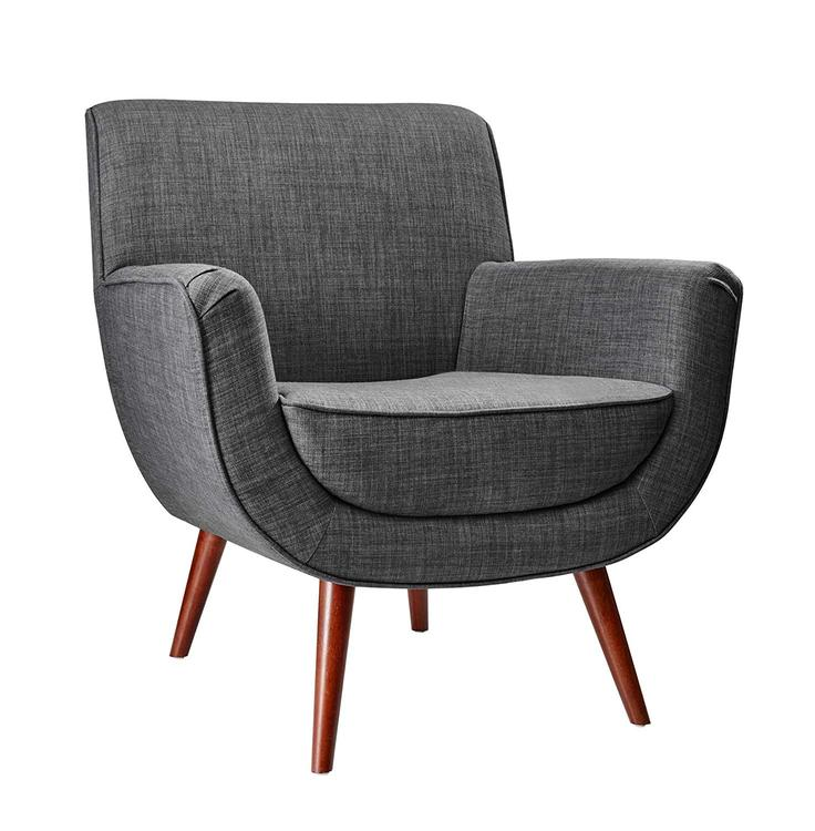 Adesso Cormac Chair- Charcoal Grey