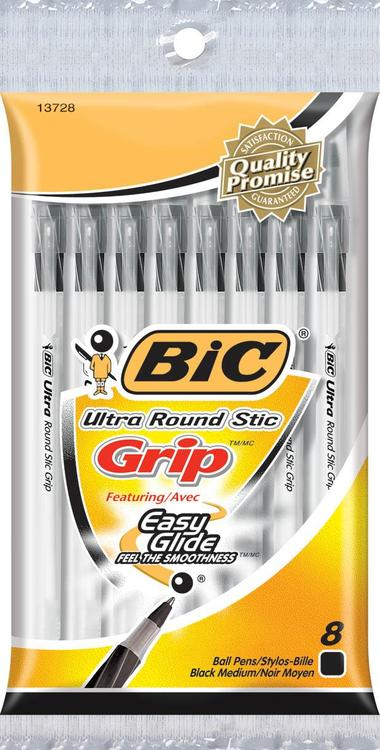 Bic Gsmgp81-Blu Ultra Grip Pen 8Ct