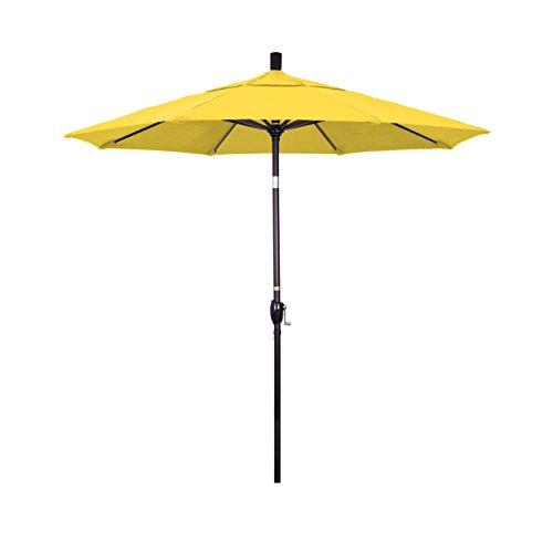 California Umbrella 7.5' Pacific Trail Series Patio Umbrella Aluminum Ribs Push Button Tilt Crank Lift