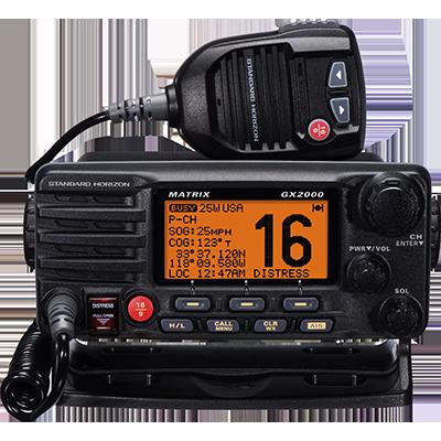 VHF, Matrix, w/Hailer, Opt Remote, Black
