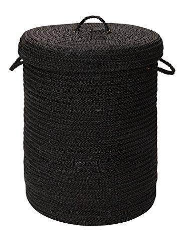 Simply Home Solid Black 18x18x30 hamper w/ lid