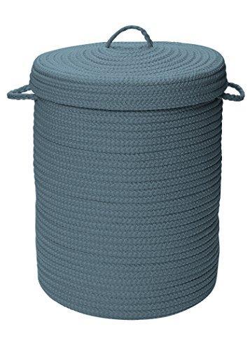 Simply Home Solid Lake Blue 18x18x30 hamper w/ lid