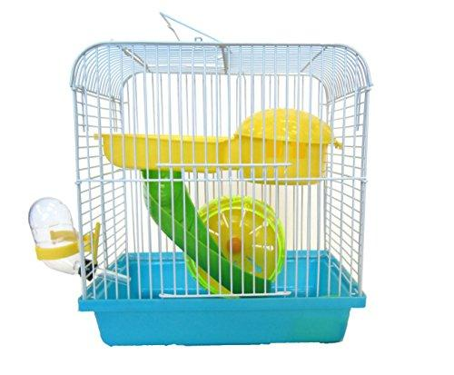 H157BL Dwarf Hamster, Mice Cage, with Accessories, Blue