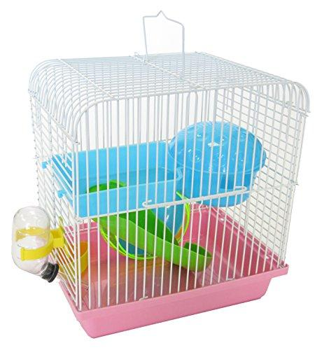 H157PK Dwarf Hamster, Mice Cage, with Accessories, Pink