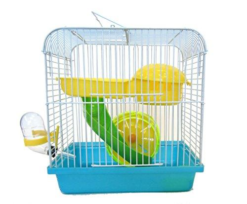 H167BL Dwarf Hamster, Mice Cage, with Accessories, Blue