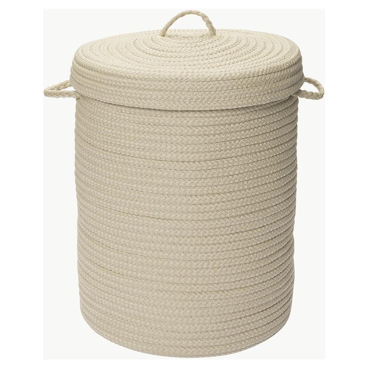 Simply Home Solid Linen 18x18x30 hamper w/ lid