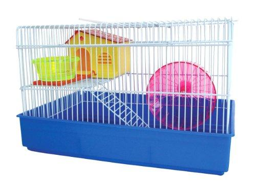 H810 2 Level Hamster Cage, Blue