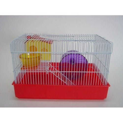 H810 2 Level Hamster Cage, Red