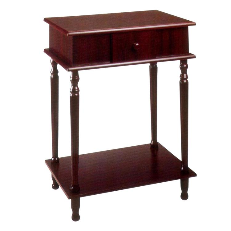 ORE International Rectangle Side Table - Cherry (28